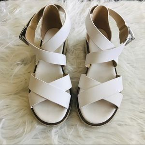 Michael Kors Darby leather wedge sandals